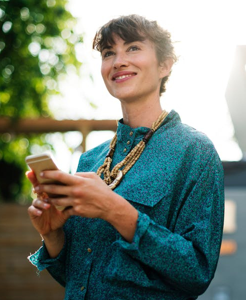 Smiling Woman with phone
